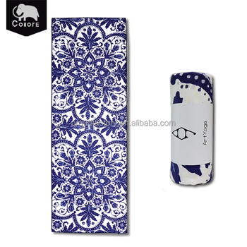 Factory best selling super long custom yoga mat towels for hot yoga