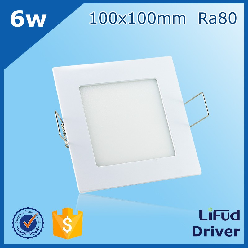 White silver black frame 6w small 100x100mm square led lights panel Epistar 2835 SMD led panel