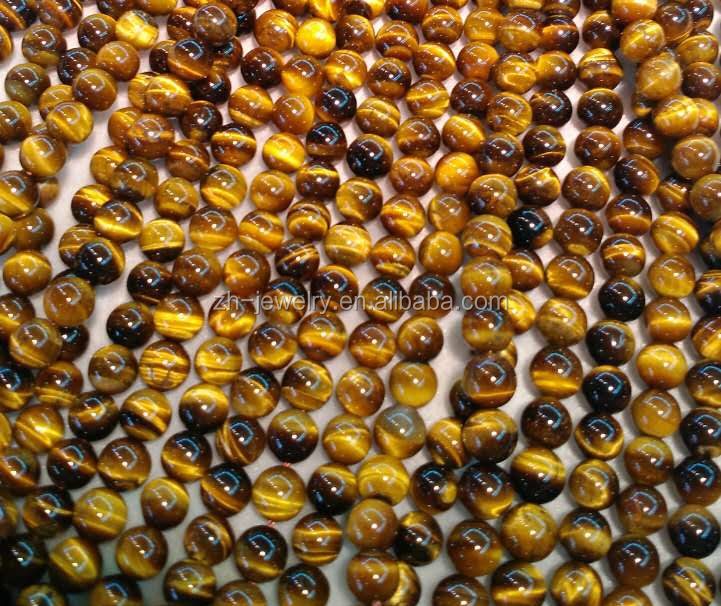Semi Precious 2-20mm round Yellow Tiger Eye Beads