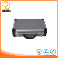 High Quality Leather waterproof security Aluminum Gun Case