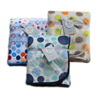 Carter's Plush Valboa with Microplush Blanket, Dots
