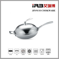 Tri ply Stainless Steel wok (1012)