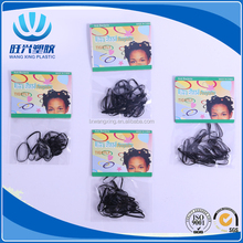 Black color small Elastic TPU Rubber Bands kids Hair Band