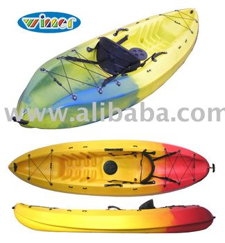 Plástico kayak, kayak de mar, single sit on top kayak, 1 persona kayak