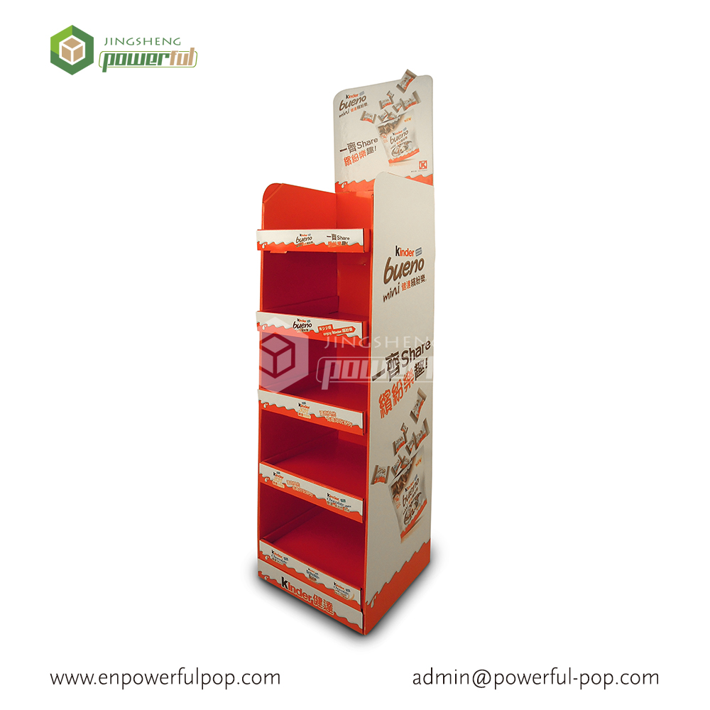 wholesale snacks cardboard display cabinets for retail store