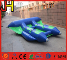 2 Tubes Flying Towables, Inflatable Flying Fish Banana Boat For Water Sports