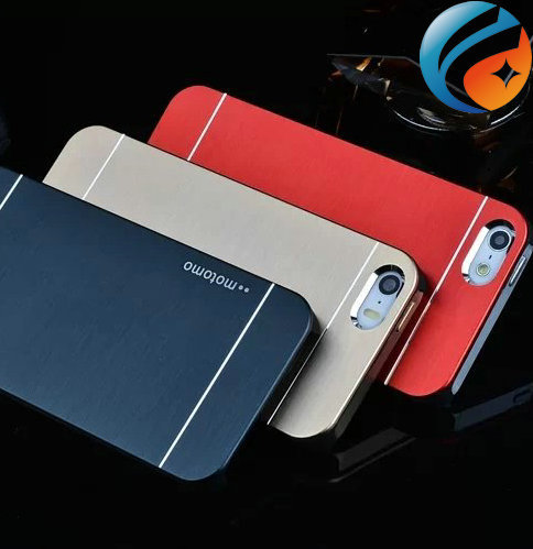 MOTOMO Aluminum Metal Brushed Hard Plastic Back Cover Case for iphone 5 5s 4s iphone5
