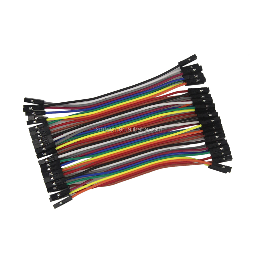HOT Great Quality Female to Female Solderless Flexible Breadboard Jumper Cable Wire 40 Pcs