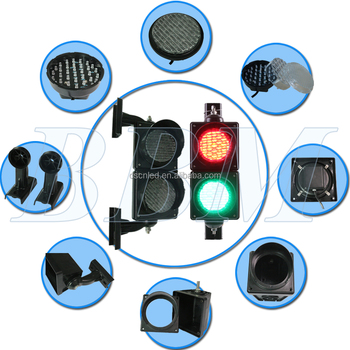 China factory 100mm led traffic light for PC material