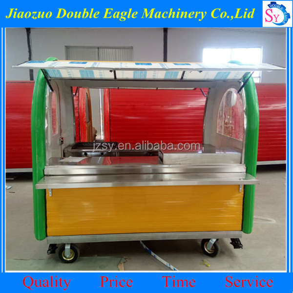factory supply electric food cart/mobile snack cart/outdoor food cart