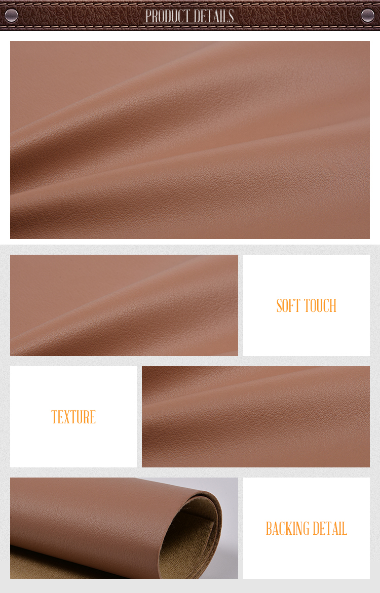 Factory Direct High Quality Brown Pvc Synthetic Stationery Leather
