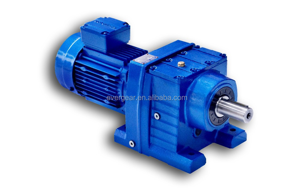 R series mechanical inline shaft foot mounted rc series helical gearbox