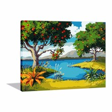 DIY Oil Painting Picture Paint By Numbers Kits For Adults And Kids