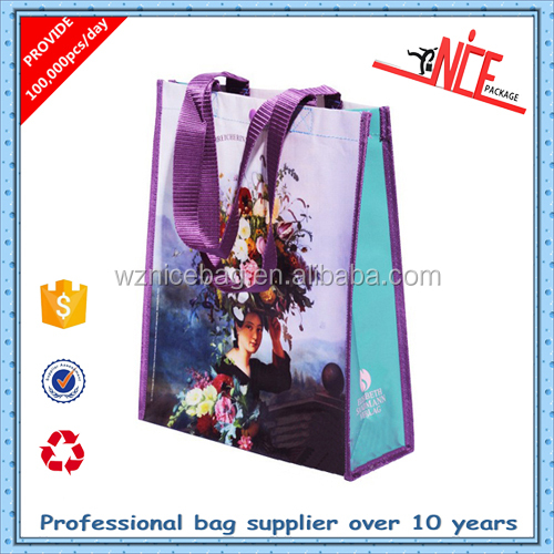 Eco-friendly customized new style women pp woven recycle shopping bag