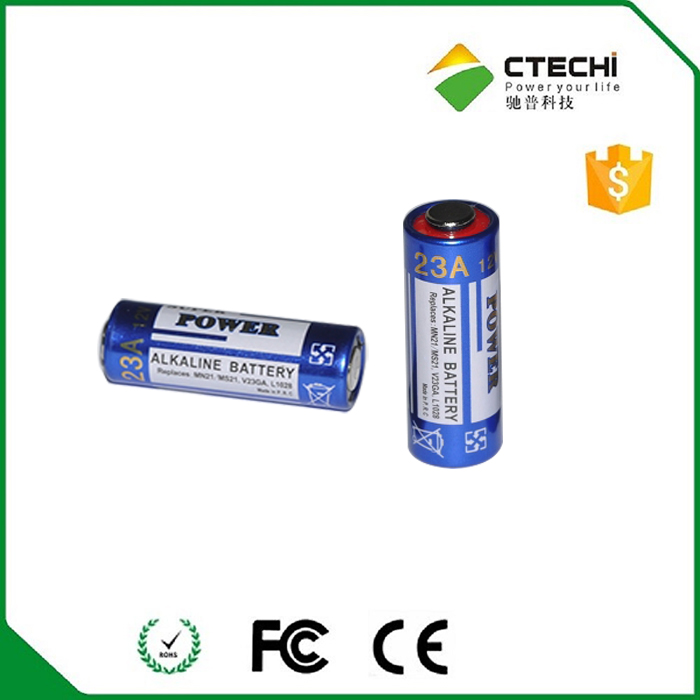 Chinese manufacturer supply 23a 12v alkaline battery A23 nonrechargeable battery