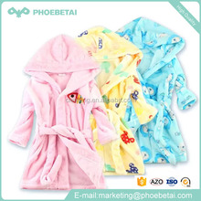 Popular cheap bathrobes for kids coral fleece children bathrobe with hooded manufacturer of bathrobe