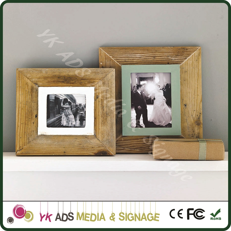 Oval frame Classical Display Photo Picture Frames Wooden