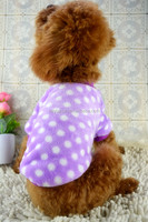 2014 New Winter Dots Puppy Dog Clothes 0081 Wholesale Factory Provide