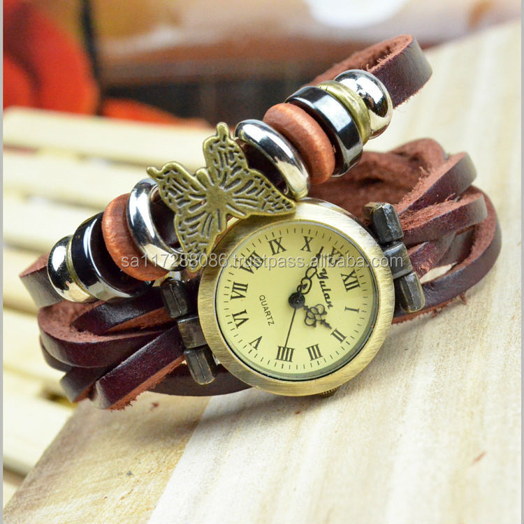 Fasion Bracelet Watch For Women hanging with a butterfly on the band