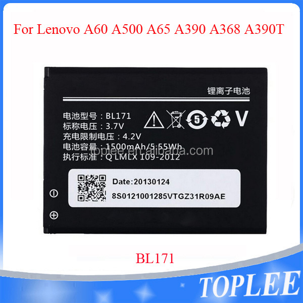China wholesale price Hot selling BL171 battery A60 A500 A65 A390 A368 A390T Li-ion Mobile Phone Battery for Lenovo