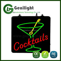 Custom Colorful LED Neon Letter Sign for Cocktails Drinks