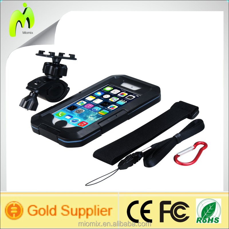 Waterproof Shock Proof,Dust Proof,Snow Proof phone Case with Armband Bike Mount for iPhone/Sumsung Black