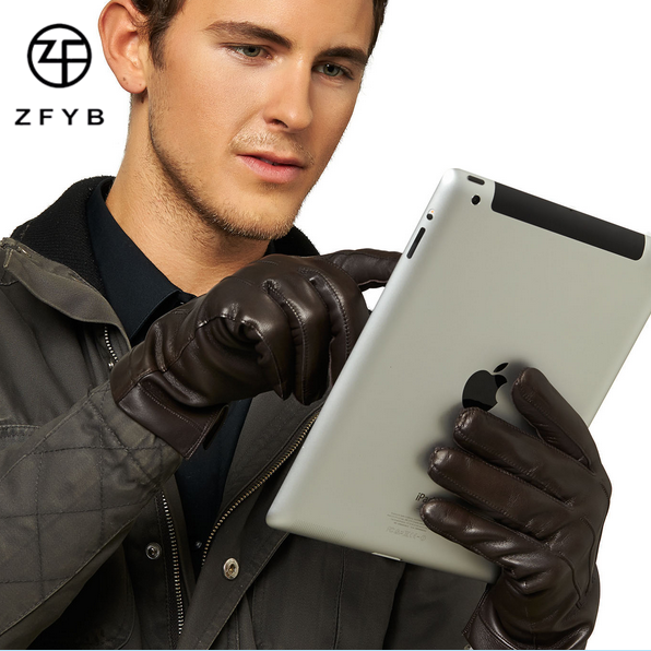 Wholesale mens touch screen gloves,leather smartphone glove manufacturer