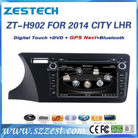 ZESTECH CE certification and 9 inch double din car dvd player for Honda City 2014 accessories with GPS Navigation