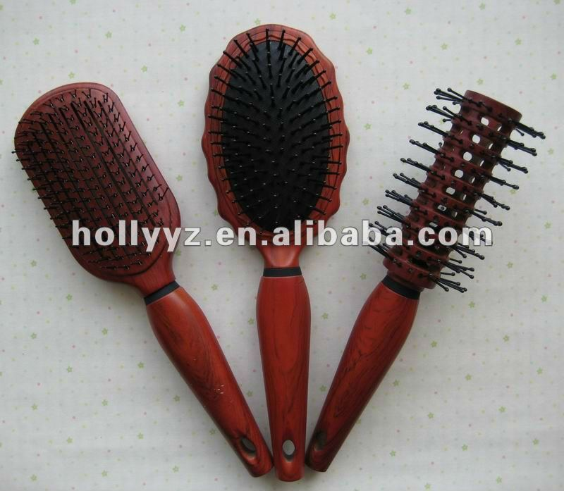 2013 hot sale new design wooden comb red hairbrush