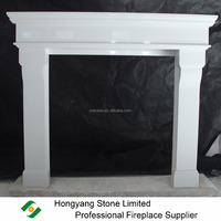 High Polished Smooth Surface Artificial Stone Cabra Fireplace Mantel Surround Only