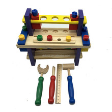 Interesting wooden toy nut combination wooden tool flatform table hand eye coordination for kids CBL3102