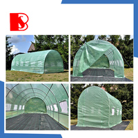 tunele foliowy high tunnel greenhouse with steel frame and leno pe cloth