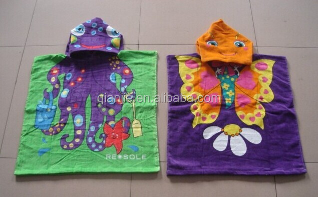 cotton fabric children and hooded towel for adults