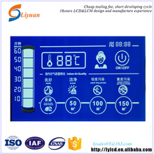 small cheap lcd monitors negative blue transparent oled screen LCD display for air cleaner