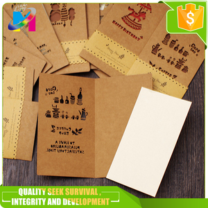 Kraft Paper Postcards Vintage Blank Greeting Cards DIY Hand Painted Graffiti Card Message Card
