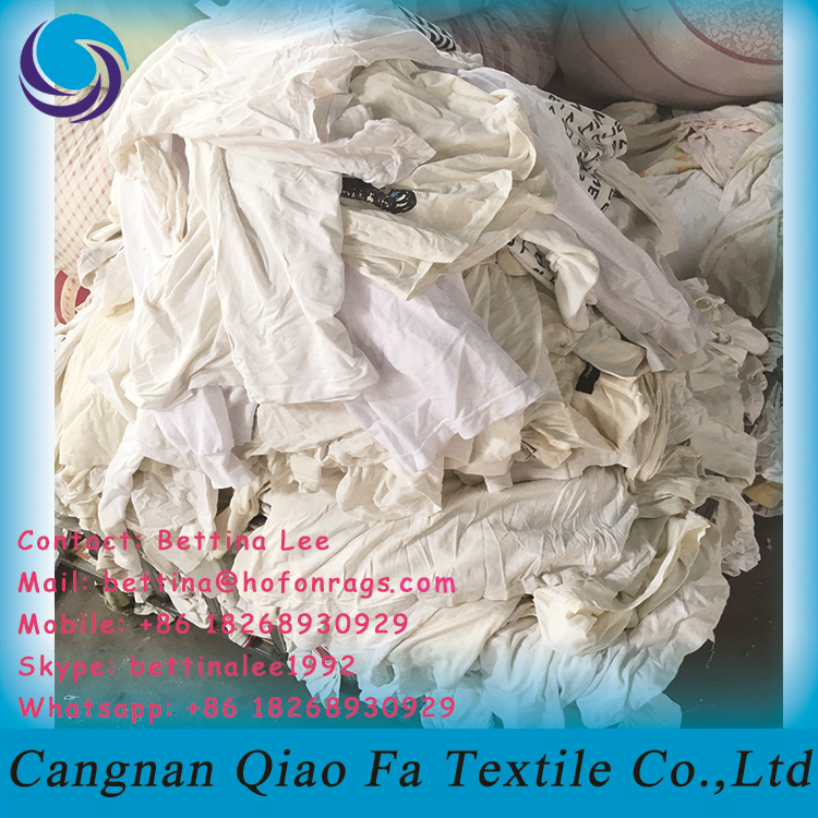 2017 best white absorb water cleaning rags used cotton wiping rags for industrial
