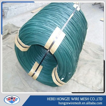 Factory Supply pvc coated rebar tie wire 12 gauge pvc coated wire