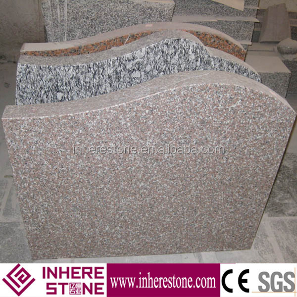 Polished G664 pink granite headstones wholesale