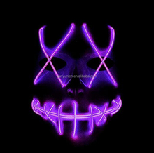 Halloween Scary LED Mask Cosplay Costume El Wire Light Up Mask for Festival Party