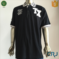 Custom cotton mens polo shirt with embroidery