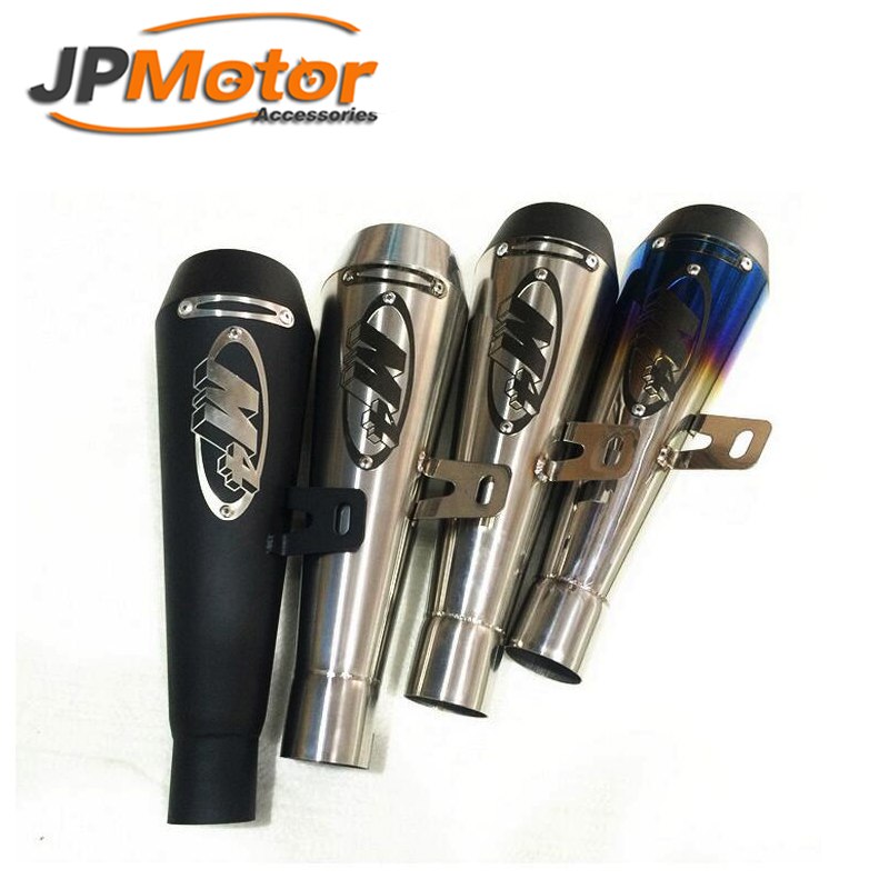 JPMotor - Black Stainless Steel M4 Exhaust Muffler Silencer with CNC tips