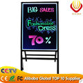 Unique products for 2015 new iterms: A Stand LED writing board 50*70cm with tempered glass panel