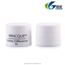 Top sale Small Mini Size empty cream plastic cosmetic 3g jar with plastic cap