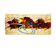 Handpainted classical Abstract animal chinese running Horse Paintings for home Decoration