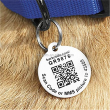 custom qr code pet id tag unique stainless steel dog tag