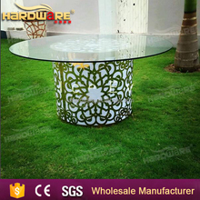 wholesale led light glass round event banquet table
