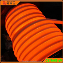 High brightness amber color PVC 220V AC 50000 hours LED neon flex light for building, hotel, brigde