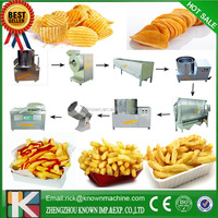 Commercial 60kgs/h Snack Machines Industrial Fried French Fries Deoiling Making Machine Potato Chips