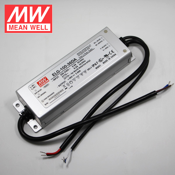 100W 24V 4A Waterproof Power Supply ELG-100-24DA Meanwell 24V DALI LED Driver
