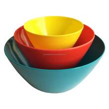 colorful melamine kitchen popcorn snack bowl